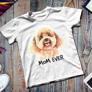 Ever Mom Toy Poodle White T-shirt Dog Lovers